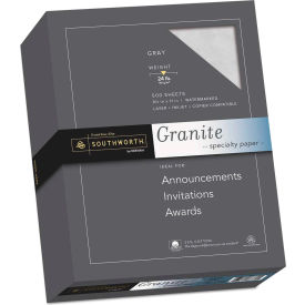 "Southworth® Granite Specialty Paper 914C, 8-1/2"" x 11"", Gray, 1/Box"