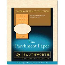 "Southworth® Parchment Specialty Paper P894CK336, 8-1/2"" x 11"", Copper, 100/Pack"