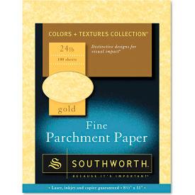 "Southworth® Parchment Specialty Paper P994CK336, 8-1/2"" x 11"", Gold, 100/Pack"