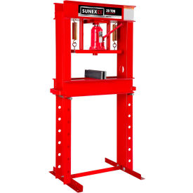 Sunex Tools 5720 - 20 Ton Shop Press w/ Accessory Kit - Fully Welded - Made in USA
