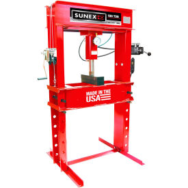Sunex Tools 57100EP - 100 Ton Electric Hydraulic Shop Press - Fully Welded - Made in USA
