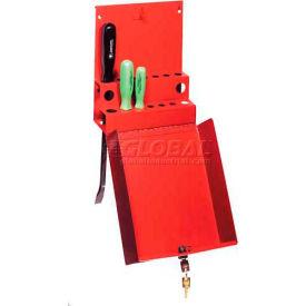 Sunex® Locking Screwdriver/Pry Bar Holder for Service Cart-Red