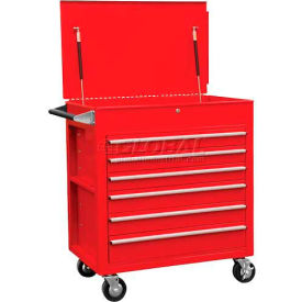 """Sunex Tools 8057 34-1/2"""" Heavy Duty Professional Red Tool Cabinet"""