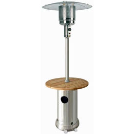 "AZ Patio Heaters HLDS01-BWT 87"" Patio Heater with Laminated Wood Table Stainless... by"