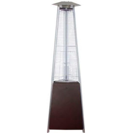 AZ Patio Heaters HLDS01-CGTHG Tall Commercial Glass Tube Patio Heater Hammered Bronze by