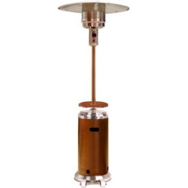 "AZ Patio Heaters HLDS01-SSHGT 87"" Tall Hammered Patio Heater Gold Stainless Steel by"