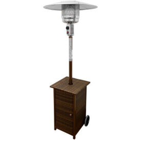 AZ Patio Heaters HLDS01-WHSQ Tall Square Dark Wicker Patio Heater by