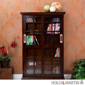 Holly & Martin 63092039512 Emerson Sliding Door Media Cabinet-Espresso
