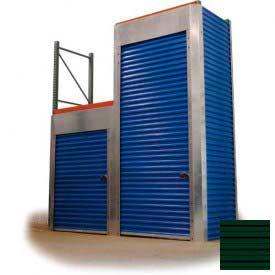 """Trac-Rite RLB46048120 Rack-Lock Back Closure, 48""""W x 120""""H, Steel, Evergreen"""