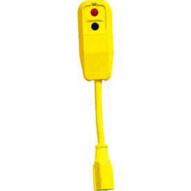 GFCI Plug Set 30334007, Right Angle, Auto, 9 Inch, Yellow, Pigtail with 1' Cord