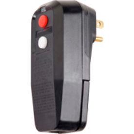 GFCI Plug 30334009-08, Right Angle, Manual, Black, User Attachable