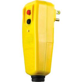 GFCI Plug 30434010, Right Angle, Auto, Yellow, User Attachable
