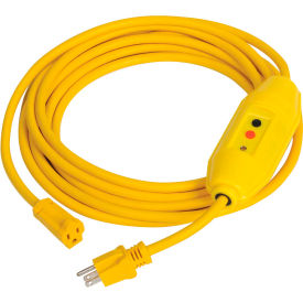 GFCI Cord Set 30438052-01, In-Line, Auto, 25 FT, Yellow