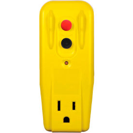 GFCI Outlet Adapter 30439005, Right Angle, Auto, Yellow