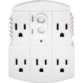 Tower Mfg 30440003 Multi Plug Adapter, Grounded, Auto, White