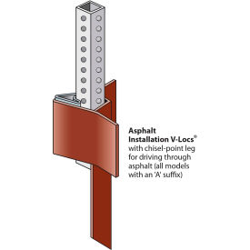 """Tapco V-Loc Kit For 2"""" x 2"""" Square Posts w/ Wedge & Chisel-Point Leg by"""