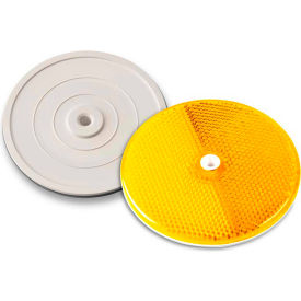 """Tapco® 102222 3-1/4"""" Amber Centermount Reflector, Plastic Backplate, RT-90A"""