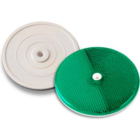 "Tapco® 102230 3-1/4"" Green Centermount Reflector, Plastic Backplate, RT-90G"