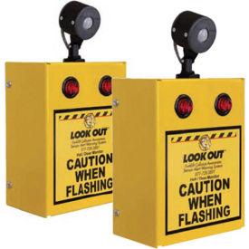 Collision Awareness Hall Door Monitor, Wall Mounted, 2 Boxes, 2 Sensors, 4 Lights, 15' Cord