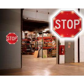 "Tapco® 2180-00390 BlinkerSign® Flashing LED STOP Indoor Sign, 24""W x 24""H, 110V"