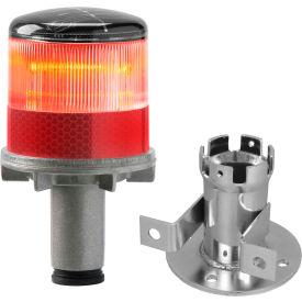 Tapco® 3337 00001 Solar Powered LED Strobe Lights, Red Bulb