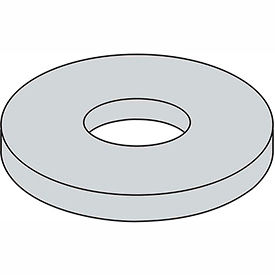 """1/4"""" x 2"""" Fender Washer - .285"""" I.D. - .047/.08"""" Thick - Steel - Zinc Plated - Grade 2 - Pkg of 100"""