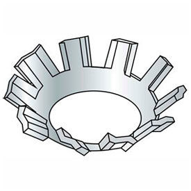 "#8 External Tooth Countersunk Lock Washer .177/.167"" I.D. Steel Zinc Grade 2 100 Pk by"