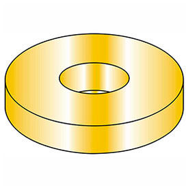 "7/16"" Flat Washer USS 1/2"" I.D. .090/.106"" Thick Steel Yellow Zinc Grade 8 Package of 100 by"