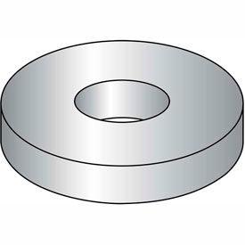 "#10 Flat Washer - SAE - 7/32"" I.D. - Steel - Zinc Plated - Grade 2 - Pkg of 100"