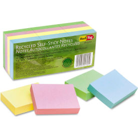 """Redi-Tag® 1 Recycled Notes 25701, 1-1/2"""" x 2"""", Pastel, 100 Sheets, 12/Pack"""
