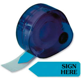 "Redi-Tag® ""Sign Here"" Arrow Flags, 1-7/8"" x 9/16"", Blue, 120 Flags/Dispenser"