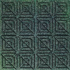 "Waterhog Classic Carpet Tile 2205214000, Geometric, 18""L X 18""W X 1/4""H, Dark Brown, 12-PK"