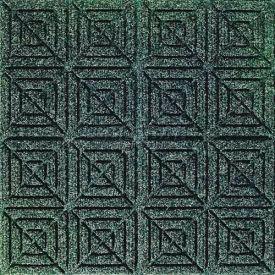 "Waterhog Classic Carpet Tile 22053716000, Geometric, 18""L X 18""W X 7/16""H, Light Green, 10-PK"