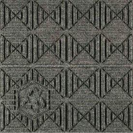 """Waterhog Eco Premier Carpet Tile 22157014000, Geometric, 18""""L X 18""""W X 1/4""""H, Black Smoke, 12-PK"""