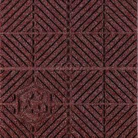"""Waterhog Eco Premier Carpet Tile 22177714000, Diagonal, 18""""L X 18""""W X 1/4""""H, Regal Red, 12-PK"""