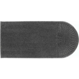 "WaterHog Eco Grand Elite 3/8"" Thick One End Entrance Mat, Gray Ash 4' x 14'4"""