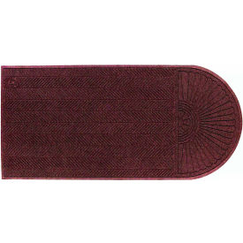 "WaterHog Eco Grand Elite 3/8"" Thick One End Entrance Mat, Maroon 6' x 7'"