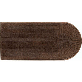 "WaterHog Eco Grand Elite 3/8"" Thick One End Entrance Mat, Chestnut Brown 3' x 5'5"""