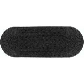 "WaterHog Eco Grand Elite 3/8"" Thick Two Ends Entrance Mat, Black Smoke 4' x 16'5"""