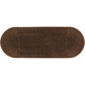 """WaterHog Eco Grand Elite 3/8"""" Thick Two Ends Entrance Mat, Chestnut Brown 3' x 11'7"""""""
