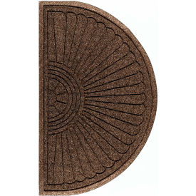 "WaterHog Eco Grand Elite 3/8"" Thick Half Oval Entrance Mat, Chestnut Brown 3' x 1'8"""