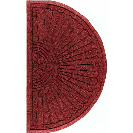 "WaterHog Eco Grand Elite 3/8"" Thick Half Oval Entrance Mat, Regal Red 4' x 2'3"""