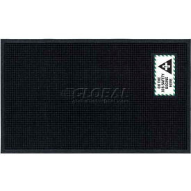 "Waterhog™ Fashion Mat, On the Job Safety, Horizontal Charcoal Border, 69""x45""x3/4"""