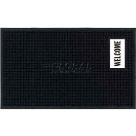 "Waterhog™ Fashion Mat, Welcome, Vertical Charcoal Border, 69""x45""x3/4"""