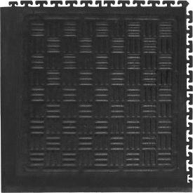 """Cushion Station Modular Corner Without Holes, Black, 19-1/8"""" x 19-1/8"""""""