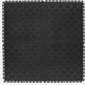 "Cushion Station Modular Middle Without Holes, Black, 36"" x 36"""