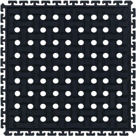 "Comfort Flow HD Modular Anti-Fatigue Tile 3/4"" Thick, Middle Black 18"" x 18"""