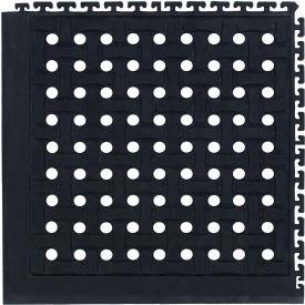 "Comfort Flow HD Modular Anti-Fatigue Tile 3/4"" Thick, Corner Black 19-1/8"" x 19-1/8"""