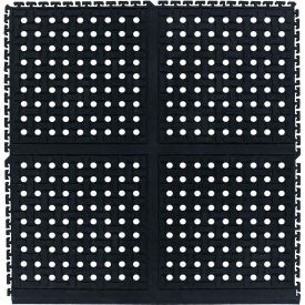 "Comfort Flow HD Modular Anti-Fatigue Tile 3/4"" Thick, Side Black 36"" x 37-3/8"""