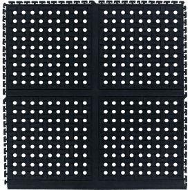 "Comfort Flow HD Modular Anti-Fatigue Tile 3/4"" Thick w/Grit, Side Black 36"" x 37-3/8"""